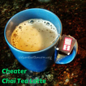 Cheater Chai Tea Latte